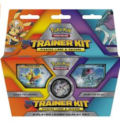 Pokemon Pikachu Libre and Suicune Trainer Kit Trading Card Game