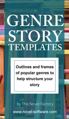 Genre story templates - outlines, cheatsheets, frames, story beats - to get the key elements of your plot off to a running start Story Outline Template, Plot Outline, Writing Outline, Novel Genres, Writing Genres, Fiction Writing, Writing A Novel, Writing Topics, Writing Courses