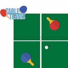 Tabletop Games: Table Tennis 2 Piece Laser Die Cut Kit