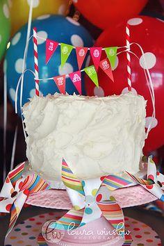 Birthday cake bunting printable
