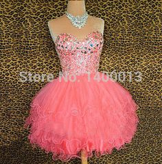 8th Grade Graduation Dresses 2014 Sweetheart Watermelon Coral Mini Short Sexy Homecoming Dresses Cheap Cocktail Dresses