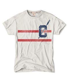 Double Stripe T-Shirt in Vintage White | Champion | Frank Ozmun Graphic Design