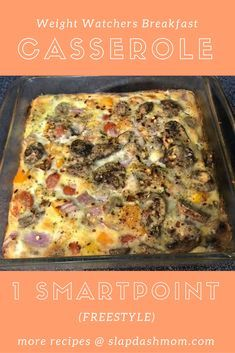 Weight Watchers Breakfast Casserole