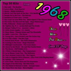 1968 top 30 hits