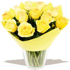 A Dozen Classic Yellow Roses  A classic dozen yellow Roses, selected and arranged to order by our florists experts. A beautiful fresh bouquet that's sure to delight. #wedding #flowers