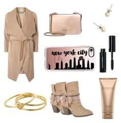 """New York City in Pink"" by thenextcocochanel ❤ liked on Polyvore featuring Dorothy Perkins, Jellypop, Gorjana, J.Crew, Donna Karan, Tory Burch, Bobbi Brown Cosmetics and Casetify"