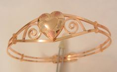 Todays rare arrivals perfect for valentines day Very Rare Marathon gold fill heart locket engrave Bracelet
