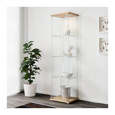 ДЕТОЛЬФ Шкаф-витрина - под бук - IKEA