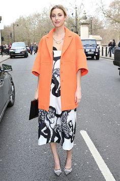 好久不见的惠特妮·波特 (Whitney Port) 现身2015秋冬伦敦时装周秀场外。