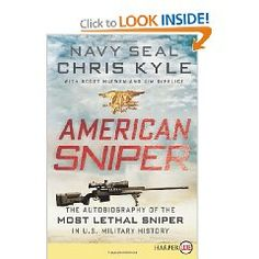 American Sniper LP: The Autobiography of the Most Lethal Sniper in U.S. Military History [Large Print], (memoirs)