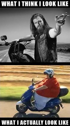 motorcycle on Fat meme girl