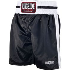 Ringside Pro-Style Boxing Trunks, Size: Small, Black