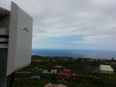 Instalación de #WiFiCanarias #AirInternet en La Zamora, soluciones donde otros no llegan = clientes satisfechos :-)