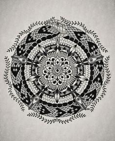 Mandala Ouroboros. Some potential inspiration for an ouroboros/mandala/Metatron's Cube tat