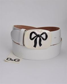 Dolce & Gabbana BNWT Genuine Leather Bow Buckle Belt- Made in Italy. Look under Dolce & Gabbana Accessories here:  http://partners.mysavings.com/z/20621/CD5326