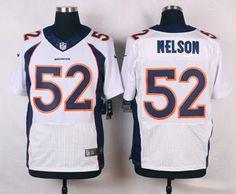 Men's Denver Broncos #52 Corey Nelson White Road NFL Nike Elite Jersey