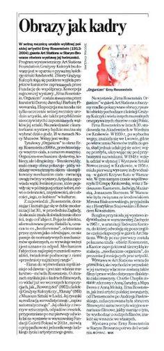"""Gazeta Wyborcza Poznań: """"Obrazy jak kadry"""""""