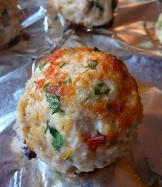 Chicken Parm Meatballs - I added some chili flakes to give them a little kick, but these are AMAZING!
