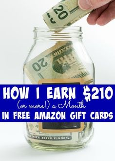 How I Earn $210 (or more!) a Month in FREE Amazon Gift Cards - The Frugal Navy Wife Make Money Money Making Ideas