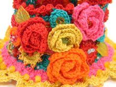 Bracciale polsino uncinetto in cotone colorato di AmarantaBeads #crochet #bracelet #madeinitaly #cuff #bohostyle #uncinetto