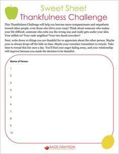 Gratitude Worksheet - Khayav