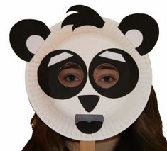 """Paper Plate Crafts 295830269256981354 - Paper Plate Panda Craft or Mask Daisy Girl Scouts """"Three Cheers for Animals"""" craft Source by Paper Plate Masks, Paper Plate Crafts, Paper Plates, Panda Craft, Chinese Crafts, Art Chinois, World Thinking Day, Panda Party, Daisy Girl Scouts"""