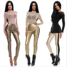 Material: piele ecologica S: Bust Talie Sold M: Bust Talie Sold Modelul are m inaltime, 47 kg si poarta marimea XS. Leather Pants, Dresses, Fashion, Leather Jogger Pants, Vestidos, Moda, Fashion Styles, Lederhosen, Dress