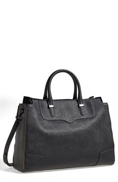 Free shipping and returns on Rebecca Minkoff 'Amorous' Tote at Nordstrom.com. Exposed zipper trim amps up the attitude of a Saffiano leather satchel featuring a structured silhouette furnished with rolled handles and an optional, adjustable strap.