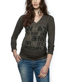 Another great find on #zulily! Anthracite Graphic Maternity V-Neck Top by LOVE2WAIT #zulilyfinds
