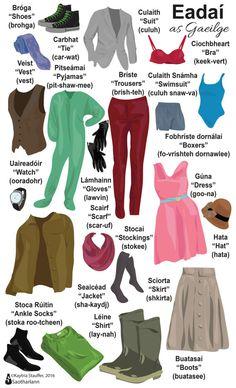 Eadaí - Clothing - Poster - Doodle - Irish