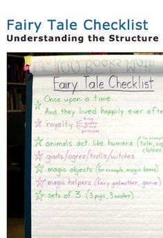 Fairytale Checklist!  This Balanced Literacy Diet activity is a fun way to learn about the structure and features of a fairytale! Students read together and create a checklist of the features they found in various fairytales. This chart acts as a reference for students and helps aid their understanding of fairytale text structure.