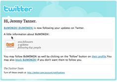 Twitter's New Follower Email