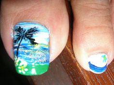Beach Pedicure Designs Toenails Fun Ideas For 2019 Beach Pedicure, Pedicure Colors, Pedicure Designs, Pedicure Nail Art, Manicure, Nail Designs, Pedicure Ideas, Beach Nail Art, Beach Nails