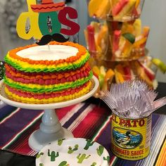 DOS Cake Topper Second Birthday Topper Fiesta Theme Cake 2nd Birthday Party For Boys, Mexican Birthday, Girl Birthday Themes, Themed Birthday Cakes, Themed Cakes, Birthday Ideas, Mexican Fiesta Cake, Fiesta Theme Party, Graham