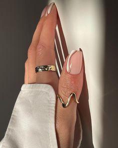 Perfect Nails, Gorgeous Nails, Pretty Nails, Neutral Nails, Nude Nails, Elegant Nail Art, Classy Nail Art, Funky Nails, Minimalist Nails