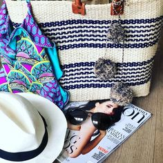 Shop the Look from a.of on ShopStyleBeach ready Beach Ready, Straw Bag, Bags, Shopping, Collection, Fashion, Handbags, Moda, Fashion Styles