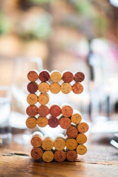 Wine cork table numbers- Eclectic urban wedding at the Brooklyn Winery Non Floral Centerpieces, Rustic Wedding Centerpieces, Wedding Table Numbers, Wedding Decorations, Diy Wedding, Dream Wedding, Wedding Ideas, Cork Wedding, Wedding Inspiration