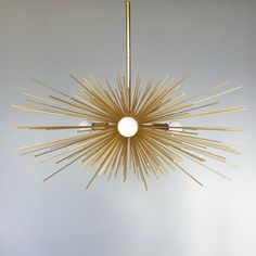 3-Bulb Gold Urchin Chandelier Lighting