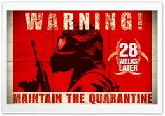 28 Days Later was one of those movies that changed my life. Here's a poster of the sequel titled 28 Weeks Later. Latest Wallpapers, Movie Wallpapers, Zombie Movies, Horror Movies, 28 Days Later, Den Of Geek, Zombie Party, Atomic Age, Zombie Apocalypse