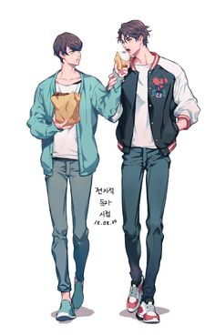 Cute Gay Couples, Cute Anime Couples, Character Concept, Character Art, Manga Anime, Boy Illustration, Cute Anime Boy, Boy Art, Artist Art