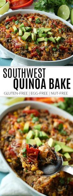 Southwest Quinoa Bake | gluten-free quinoa bake | healthy quinoa bake | easy quinoa bake recipes | recipes using quinoa | how to cook quinoa || The Real Food Dietitians #quinoabake #glutenfreerecipe #easydinner