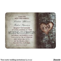 Tree rustic wedding invitations                              …