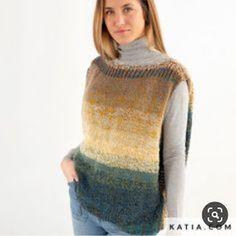 by Pipitty: COLETE LÃ BATIK MAXI Stockinette, Crochet Clothes, Knit Crochet, Men Sweater, Vest, Knitting, Pattern, Sweaters, Outfits