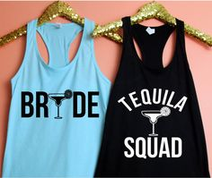 Cinco De Mayo, Tequila Squad Fitted Racerback Tank Top, Bachelorette Party Shirts, Gifts For Her, Wine Tasting Trip by ShopatBash on Etsy Desert Bachelorette Party, Bachelorette Themes, Bachelorette Party Shirts, Bachelorette Weekend, Tequila, Shirt Style, Athletic Tank Tops, Trending Outfits, Racerback Tank