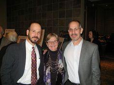 Authors Chris Barton, Kathi Appelt & Brian Yansky at the Austin Public Library Friends Foundation's 2013 Illumine benefit gala honoring Cynthia Leitich Smith.