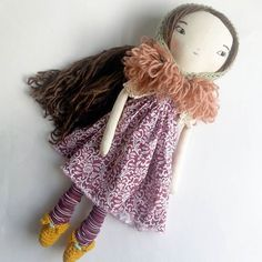 So decided on sending this girl off to live with my grandma ♥♥♥♥♥ I'll miss her♥♥ #ragdoll #clothdoll  #handmadewithlove #humbletoys