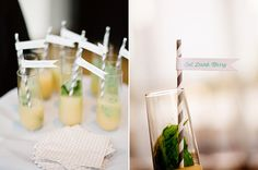 """Eat, Drink and Marry"" paper straw flags"