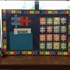 Boggle board in my puzzle themed classroom. Classroom Setting, Classroom Displays, Classroom Organization, Organization Hacks, Classroom Resources, Classroom Themes, Teacher Tools, Teacher Stuff, School Projects