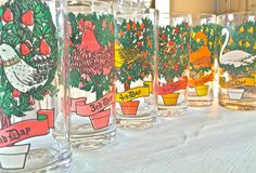 12 days of Christmas glasses-collectible christmas glasses by marionsvintagebakery on Etsy https://www.etsy.com/listing/225643685/12-days-of-christmas-glasses-collectible