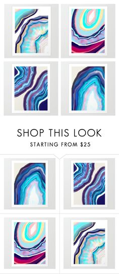 """""""agate paintings"""" by zpeale on Polyvore featuring interior, interiors, interior design, home, home decor and interior decorating"""